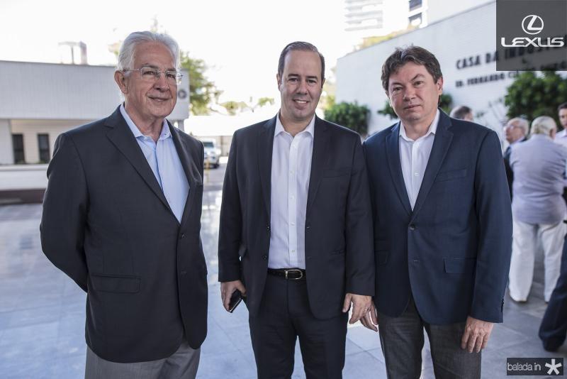 Carlos Prado, Cesar Ribeiro e Edgar Gadelha