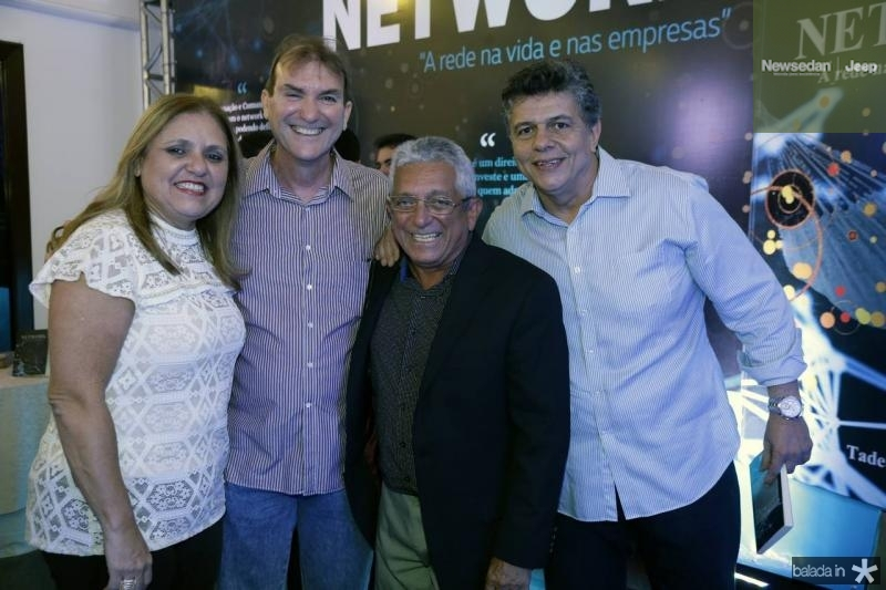 Jaqueline e Luiz Carlos Bandeira, Tadeu Sobreira e Pedro Cesar