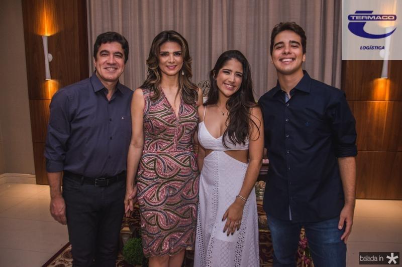 Paulo, Rachel, Bia e Davi Teixera