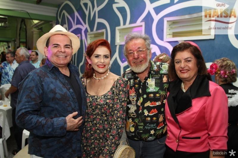 Walker e Fa?tima Santiago com Olimpio Mendes e Francisca Ma?ximo