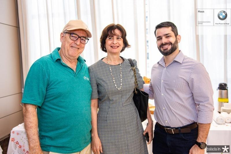 Francisco Back, Cintia Diogenes e Vladmir Soares