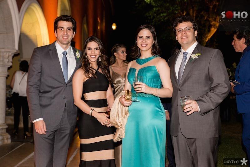 Rafael Nogueira, Manuela Rolim, Sabrina e Bruno de Castro