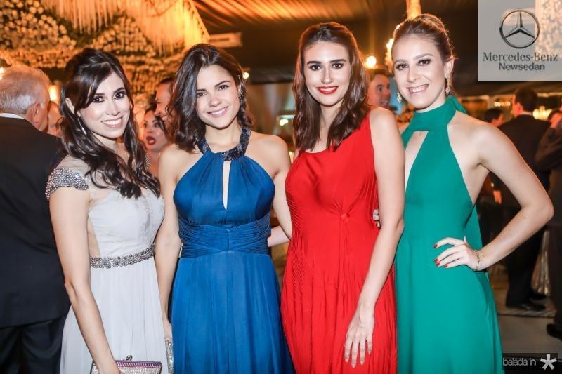 Gisele Paiva, Priscila Becco, Talita Pontes e Larissa Luz
