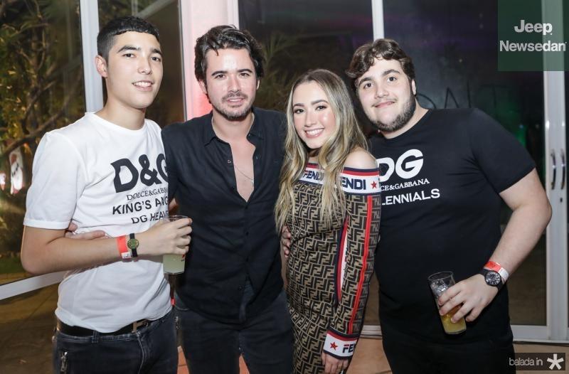 Lucca, Ivens Neto, Lissa e Luciano Dias Branco