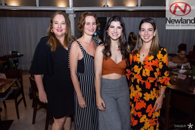 Luiziane Cavalcante, Jussara Regas, Themis Briand e Ticiana Barreira