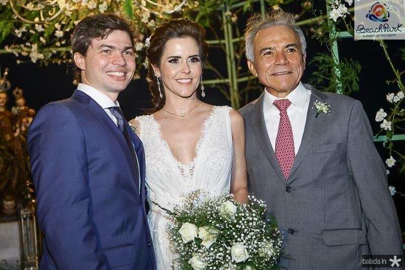 Eduardo Lima, Cristina Brandao e Monervino de Castro