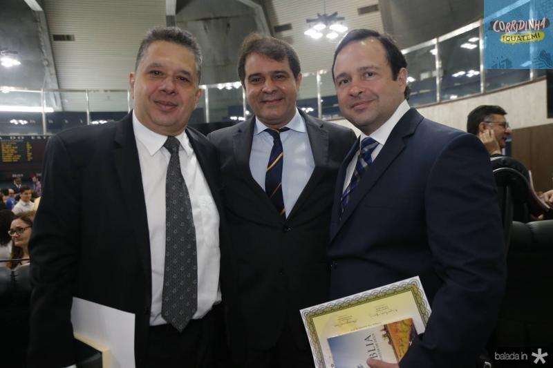 Gerardo Bastos, Evandro Leitao e Igor Queiroz