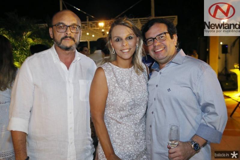 Adriano Fiuza, Luciana Becker e Rafael Bezerra