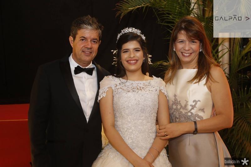 Emanuel, Lissa e Aline Telles Chaves
