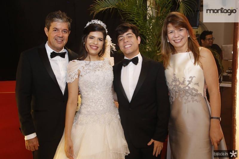 Emanuel, Lissa, Emanuel e Aline Telles Chaves