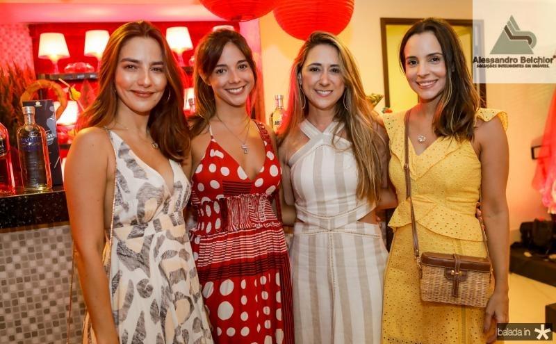 Lara Romcy, Erica Carvalho, Ticiana Romcy e Ticiana Machado