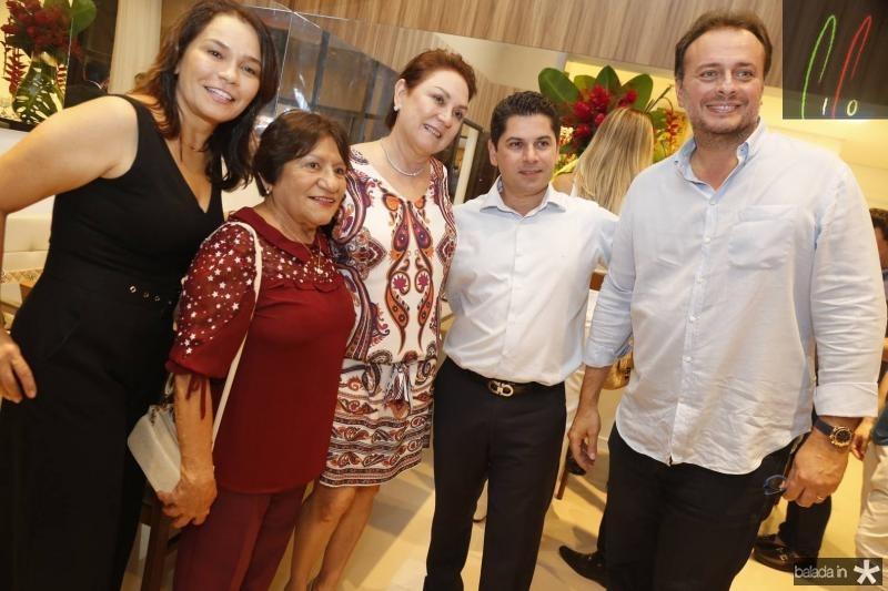 Margarida Alves, Aurineide Araujo, Paula Frota, Pompeu Vasconcelos e Adriano Nogueira