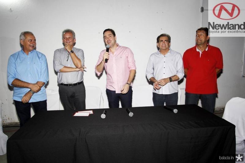 Nezinho Farias, Andre Figueiredo, Eduardo Bismarck, Zezinho Albuquerque e Gony Arruda