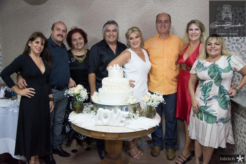 Creuza, Carlos Alberto, Liris, LC, Adriana e Ibsen Moreira, Danila Berni e Maria Thea Moreira