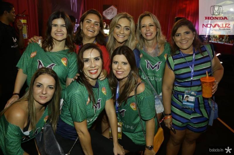 Ticiana Brigido, Ira Frota, Celia Magalhaes, Raquel Barreira, Gisela Vieira, Raquel Vasconcelos, Ane Alcantara e Marina Albuquerque