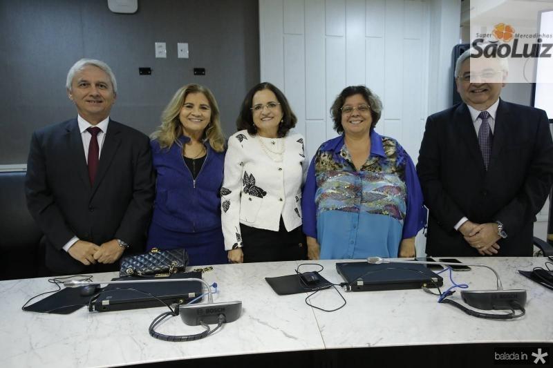 Henrique Jorge, Maria das Gracas Almeida, Marlucia Bezerra e Lizete Gadelha e Paulo Albuquerque