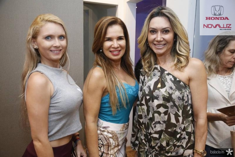 Keyla Serafim, Silvana Montenegro e Melina Almeida