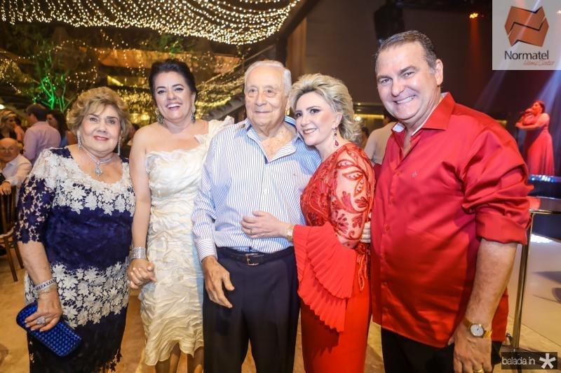 Consuelo Dias Branco, Silvana e Adauto Bezerra, Graça e Jorio da Escossia