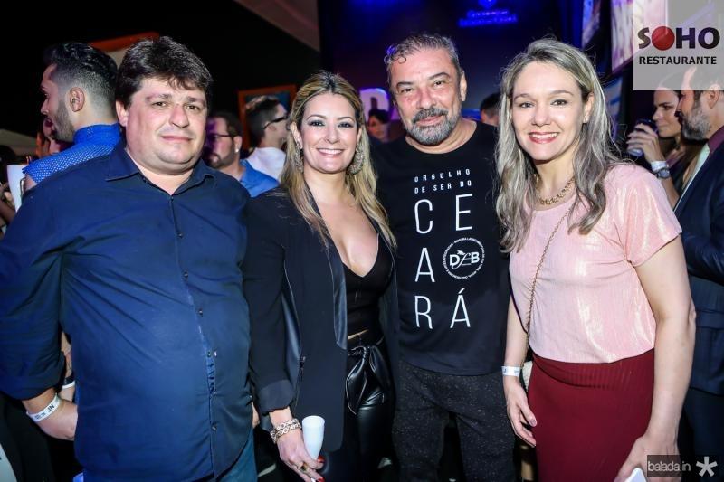 George Lima, Tatiana Luna, Claudio Silveira e Erika Markan