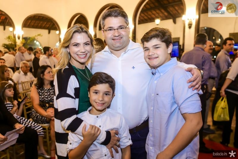 Vanessa, Deusmar, Mario e Pedro Henrique Queiros