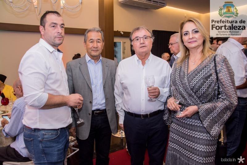 Sergio Rebordao, Coronel Romero, Antonio Soares e Ana Regia