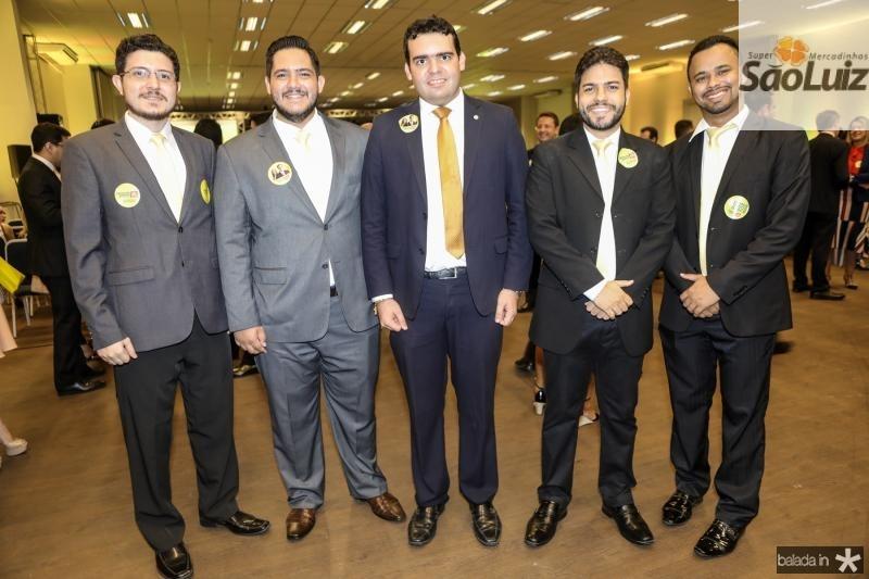Jose Ocelio, Igor Leitao, Rafael Castelo Branco, Pedro Henrique e Luan Cruz