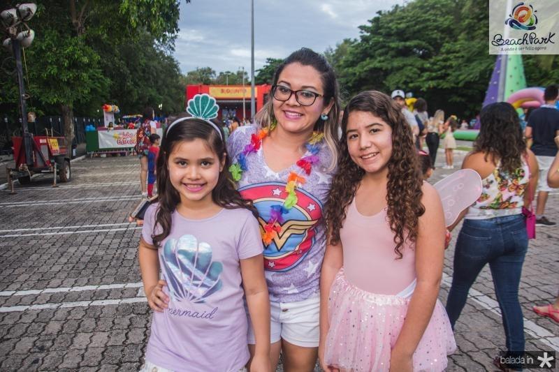 Amanda, Erisvania e Helana Lima