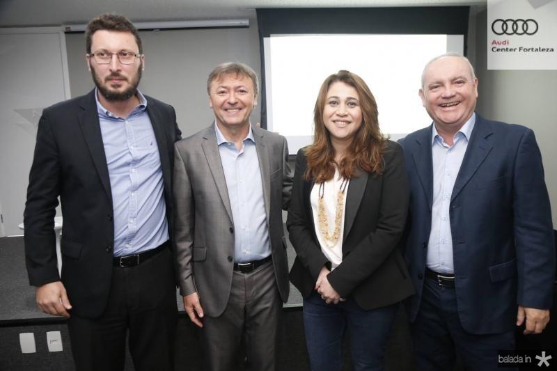 Rodrigo Leite, Mauricio Filizola, Raquel Barros e Savio Carvalho