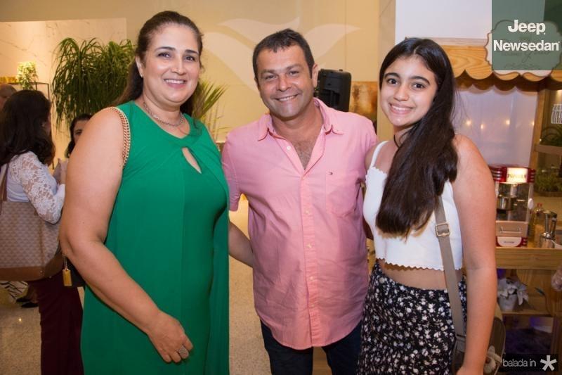 Georgia Santos, Paulo Cesar e Mara Santos