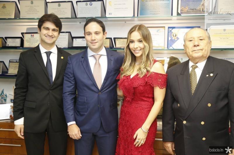 Pedro Gomes de Matos, Thiago e Rafaela Asfor e Idalmir Feitosa