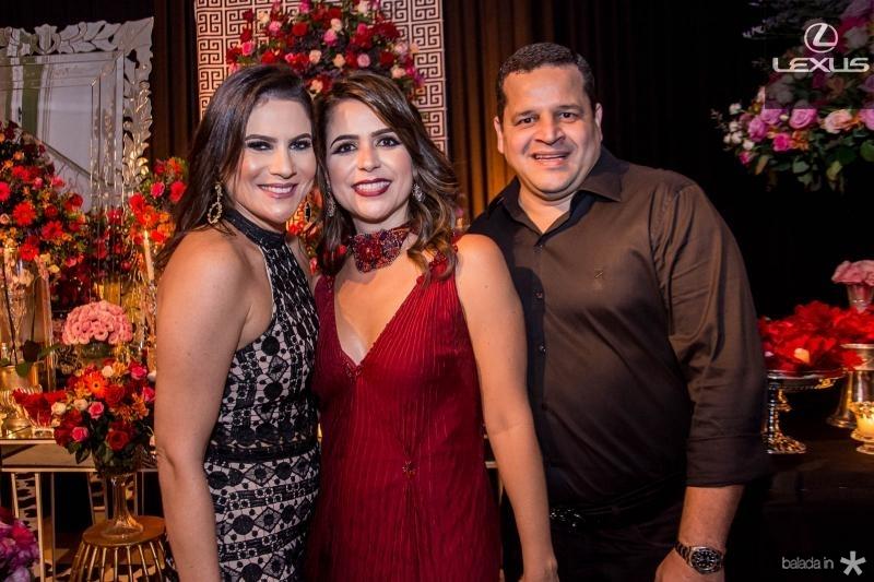 Luciana Borges, Camila Benevides e Augusto Borges