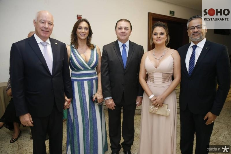 Herculano e Rita Passos, Eliseu Barros, Tayana Machado e Bob Santos