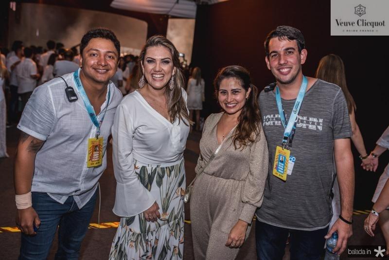 Ronald Farias, Fabiana Ribeiro, Carmen Frota e Gabriel Ribeiro