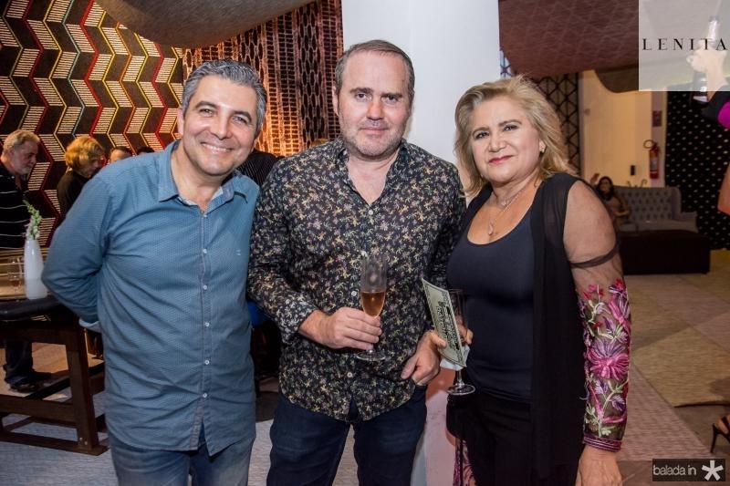 Roberto Dias, Roberto Pamplona e Dulce Silveira