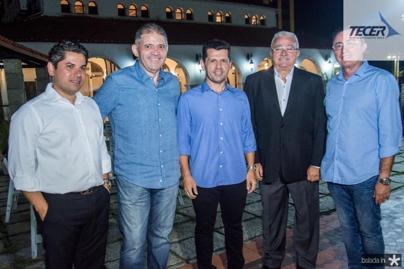Pompeu Vasconcelos, Andre Rocha, Erick Vasconcelos, Alcimor Rocha e Darlan Leite