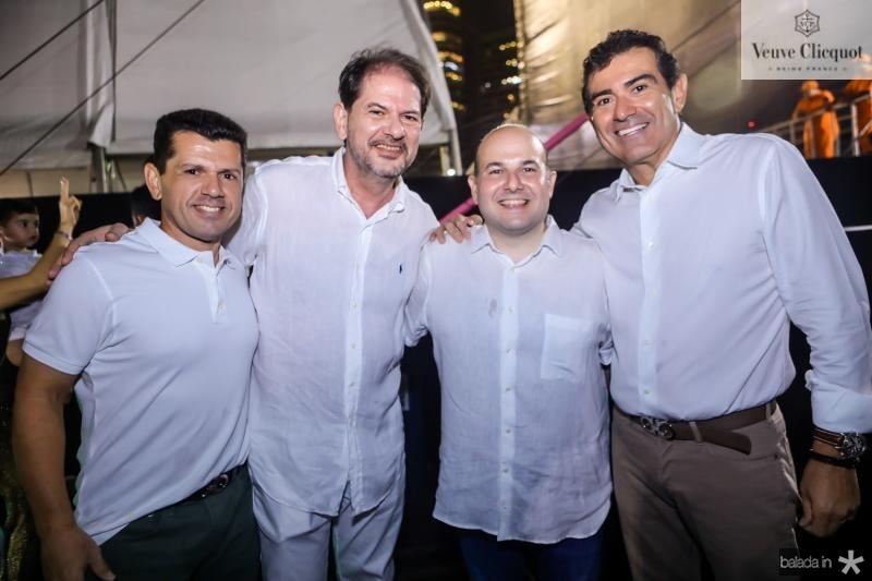 Erick Vasconcelos, Cid Gomes, Roberto Claudio e Alexandre Pereira