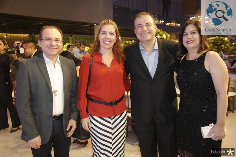 Carlos Matos, Ticiana Queiroz, Ricardo e Luciana Bezerra