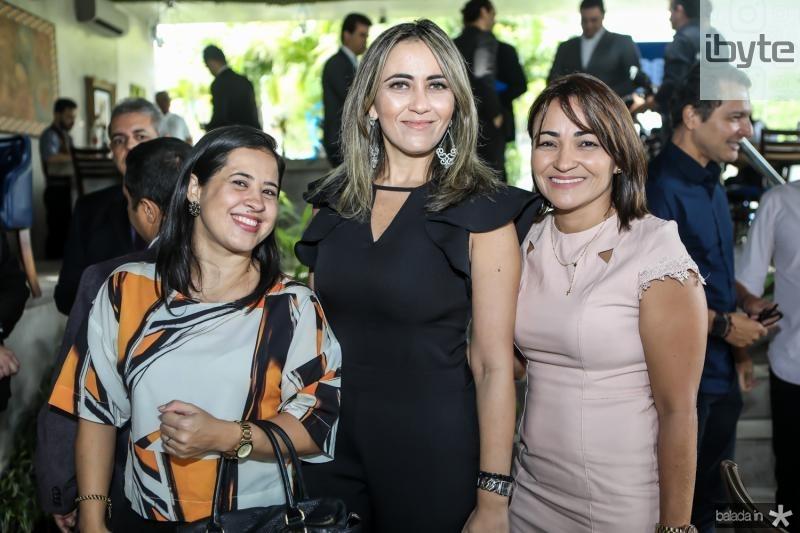 Edilene Colares, Rafaele Barros e Elisabeth Gadelha