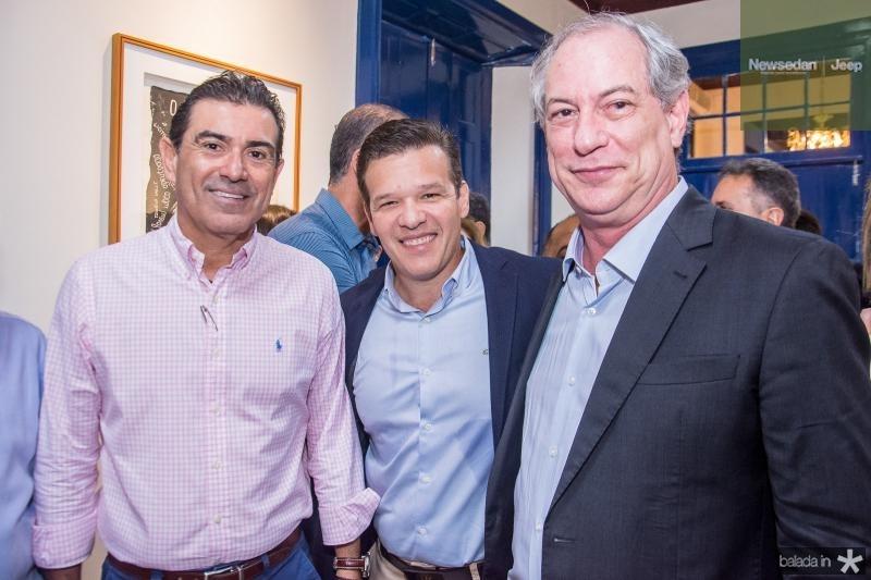 Alexandre Pereira, Ferrucio Feitosa e Ciro Gomes