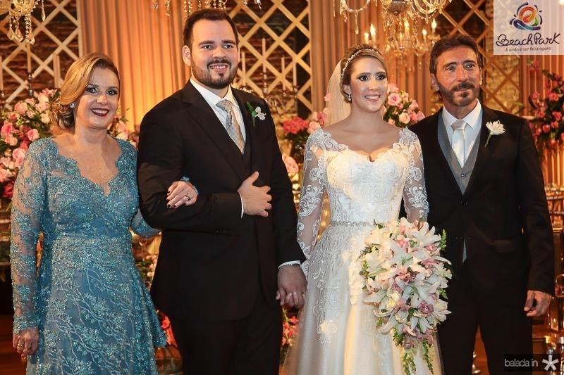 Eveline Carvalho, Larry Rabb, Thais e Joao de Deus Carvalho