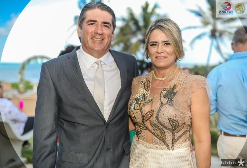 Cesar Menezes e Valdira Silva