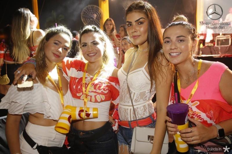 Beatriz Campos, Risangela Lima, Aisla Goes e Carla Freire