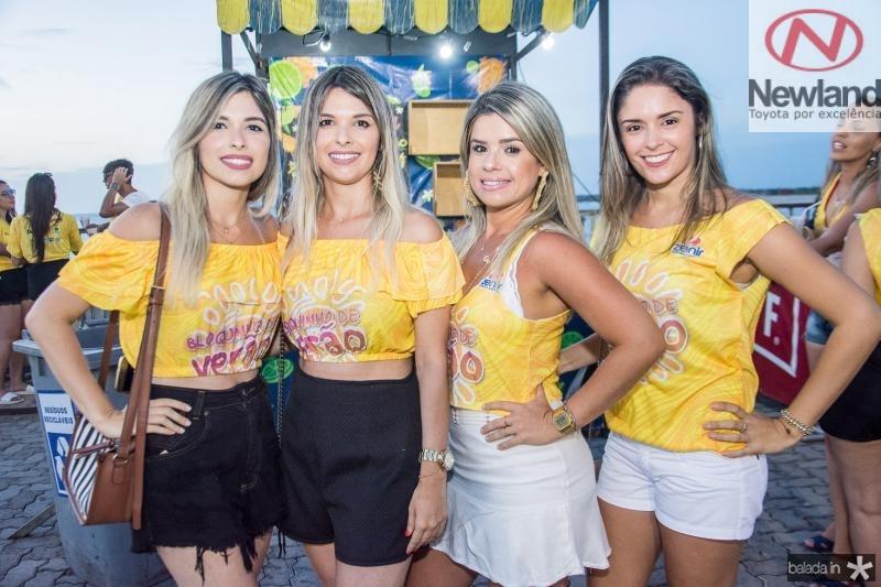 Elani Nobre, Elaine Nobre, Carol Borges e Luana Mourao