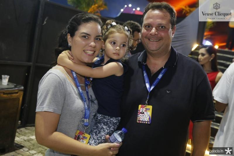 Natalia Caetano, Manuela e Marcelo Rocha