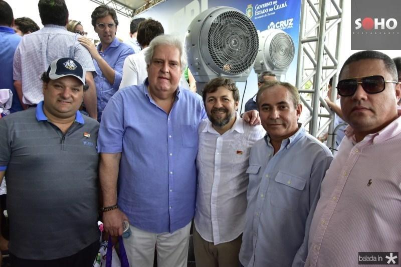 Patriolino Dias, Aloisio Ximenes, Elcio Batista, Acelino Mentor e Bertran Duarte