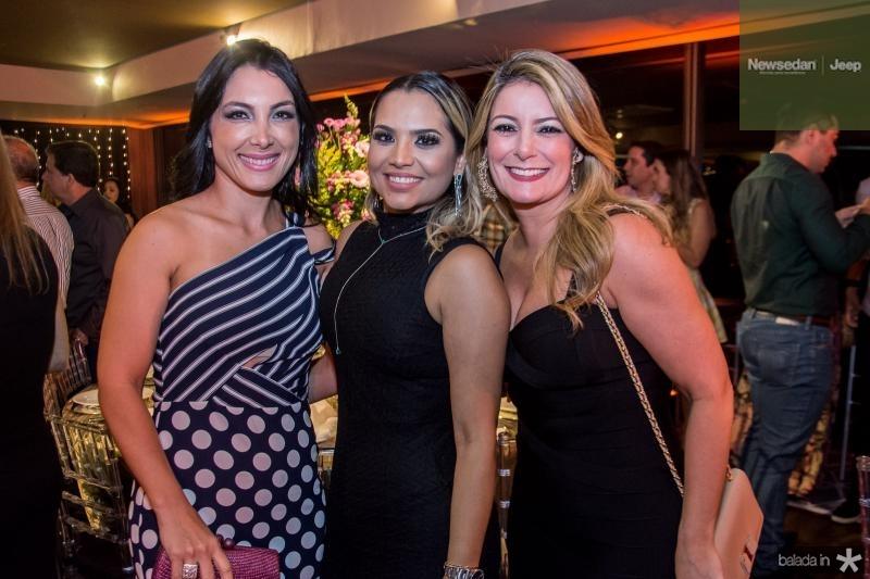Danielle Linheiro, Risangela Lima e Tatiana Luna