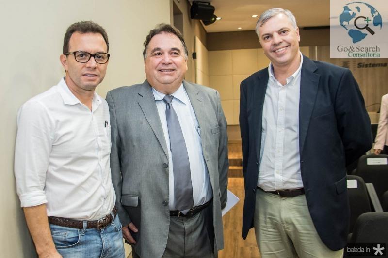 Antonio Vidal, Carlos Alberto Lancia e Lucas Ferianci