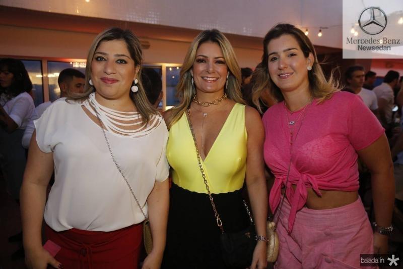 Manu Romcy, Tatiana Luna e Andrea Vieira