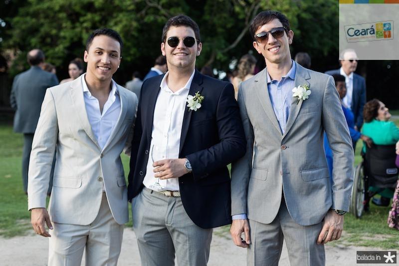 Matheus Costa, Gabriel Brito e Rafael Brito