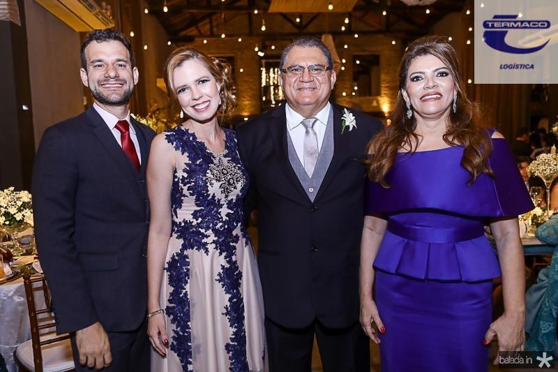 Fabio Cunha, Camila Moreira, Mauricelio e Philomena Araujo